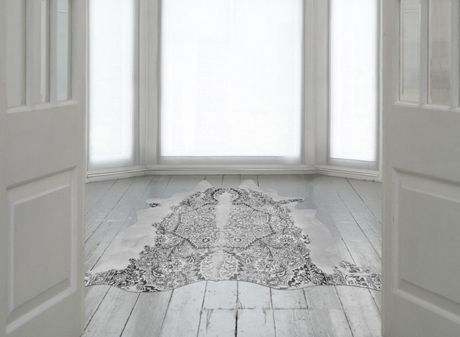 Persian Cowhide Rug, click for large Image