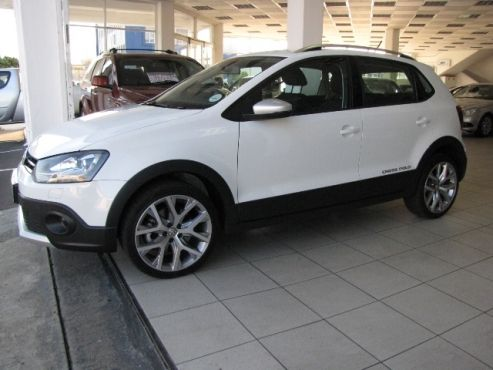 2015 Volkswagen CROSS Polo 1.2 Tsi, 6 Speed Manual, Petrol, 81kW, with 13 475 kms for R 249 900 - Cruise Control - XENON Headlamps with LED separate daytime Running lights - Airbags - Flat tire Indicator - Headlight Washer system - Glove compartment cooling system - Central Locking with remote controlled Alarm - Isofix - Aux & USB inputs - Touch screen media with SD Card Slot - CD shuttle in cubby hole - Alloy Wheels - Electric windows and mirrors - Steering Controls - Silver Roof Rails…