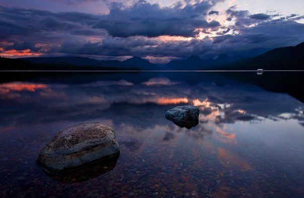 Озеро McDonald, США.
