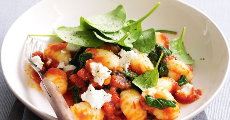 This Italian-style fast food dish has it all - tender gnocchi, creamy cheese and a rich tomato and vegie sauce.