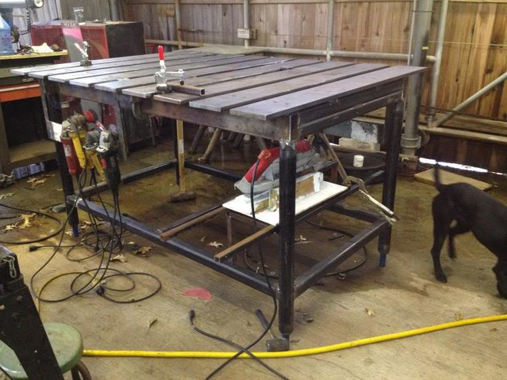 17 best images about workbench on pinterest welding for Plan fabrication table