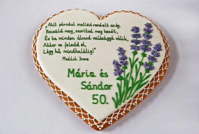 Moss Kitchen: Gingerbread heart lavender Anniversary