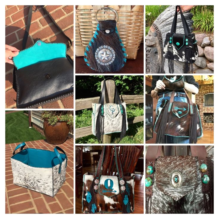 For the love of turquoise.  Custom purses and totes from Go West Designs.