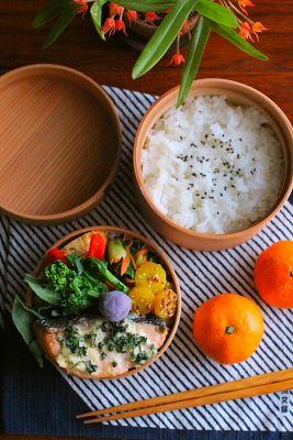 鮭のパセリマヨ焼き弁当 | 日本の片隅で作る、とある日のお弁当