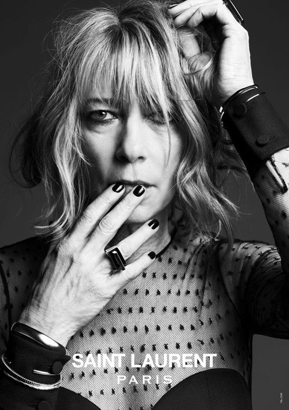 Kim Gordon in the new Saint Laurent advertising campaign. Photography by Hedi Slimane