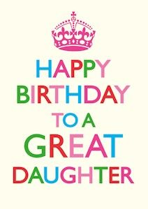 Happy Birthday Daughter Girly Cards 25525wall.jpg
