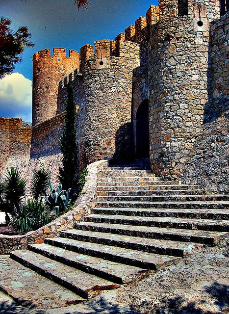 Castillo de Villena, Alicante, Spain  Like that these are almost like a ramp, look great and easy to climb