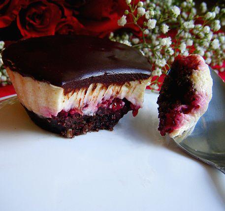 Chocolate Raspberry Mini Cheesecakes
