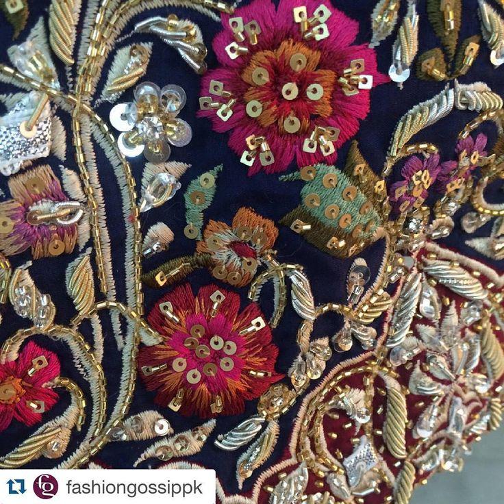 Sneak peak into #zainabchottani's #Dilruba collection #FPW15