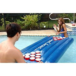 Port-o-Pong Inflatable Floating Pool Beer Pong Table - I may be able to play this. The only safe place would probably be an operating room with full sterile protocols.