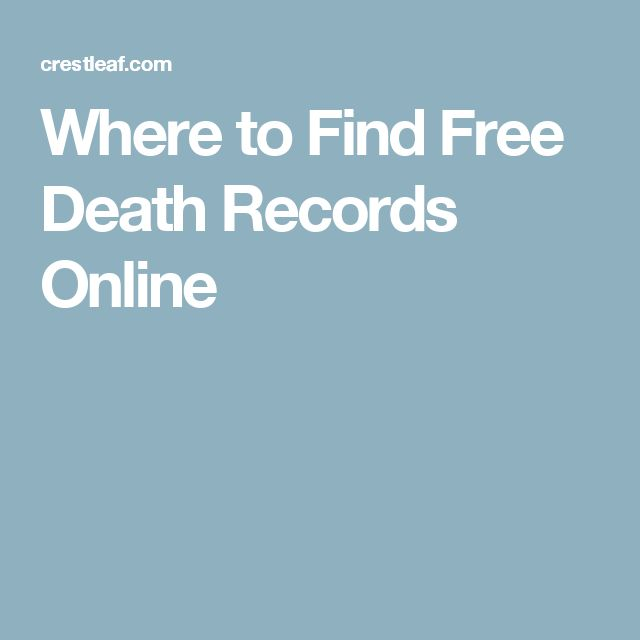 Where to Find Free Death Records Online