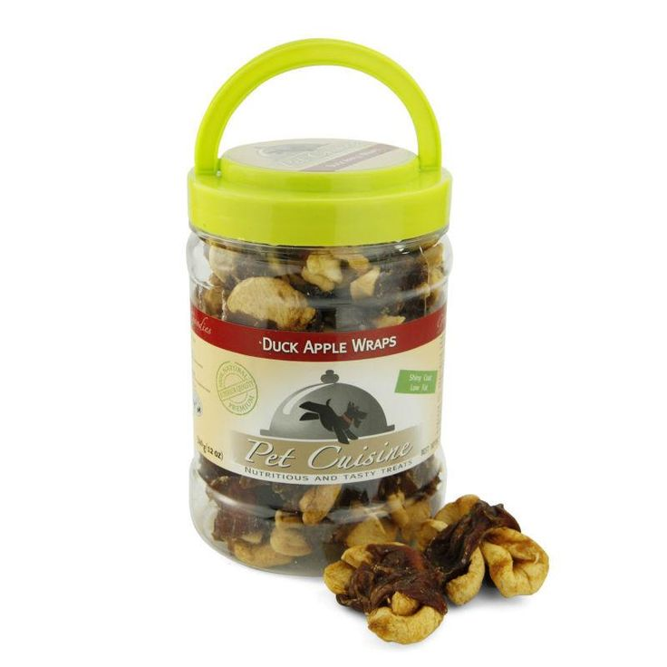Pet Cuisine All Natural Dog Treats Training Snacks Dog Food, Duck Apple Wraps Puppy Chews,340g