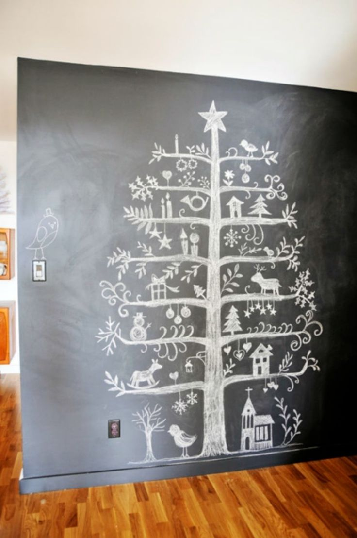 Wandgestaltung mit Tafelfarbe - kreative schwarze Tafel