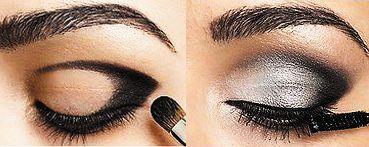 Dymové líčenie pre hnedé oči