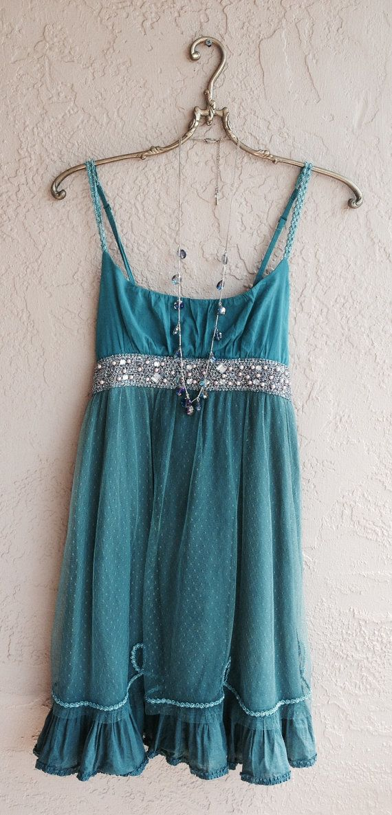 Romantic Beaded Teal Gatsby lace dress with sheer