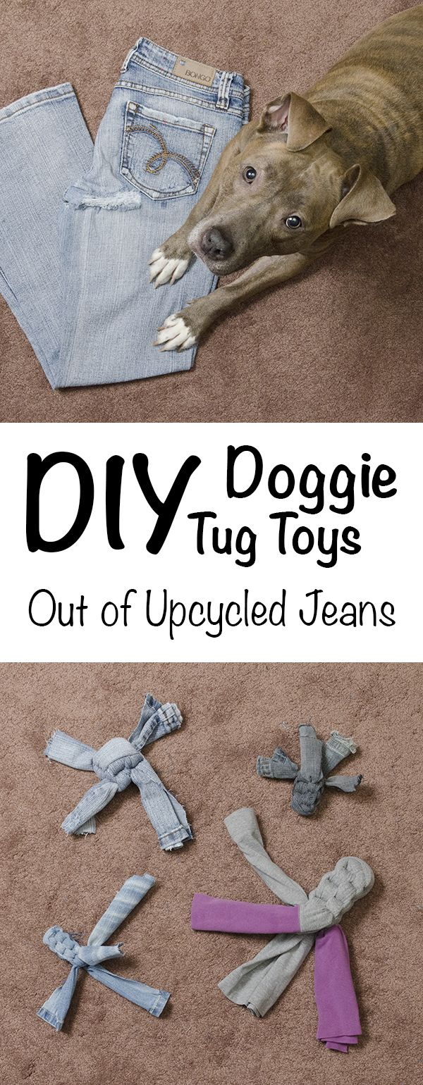 133 best crafty petz images on pinterest dog cat pets and kitty cats diy doggie tug toys tutorial upcycle your jeans and yoga pants learn how to solutioingenieria Image collections