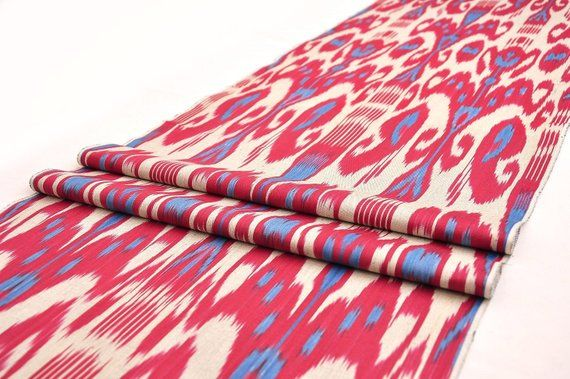 Red Ikat Fabric Cotton Ikat Fabric Upholstery Handloom