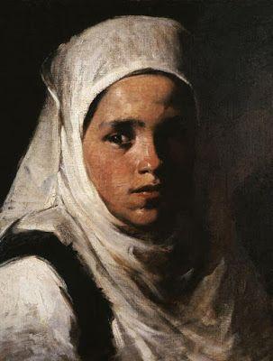 Περικλής Πανταζής (1849-1884), κοριτσάκι. Εθνική Πινακοθήκη.