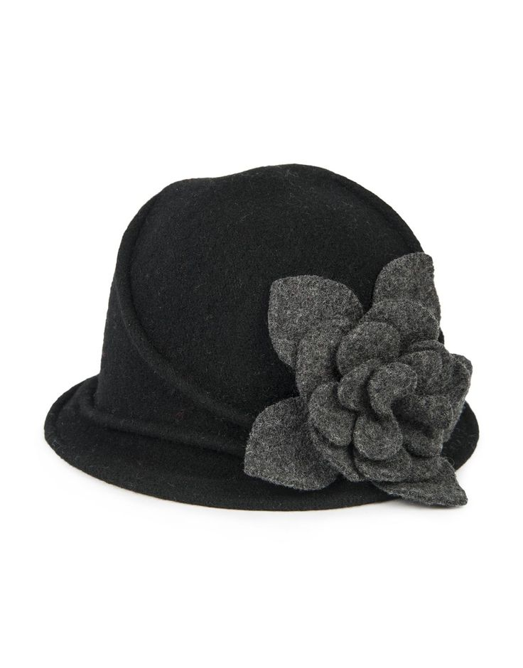 'Flower' Wool Cloche