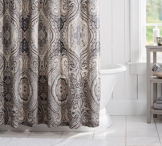 Beale Paisley Shower Curtain | Pottery Barn