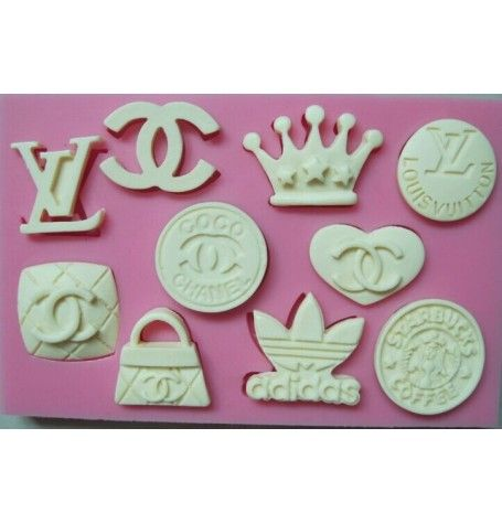 Silicone Mold for Logo Icons (Chanel, Louis Vuitton, adidas, starbucks)
