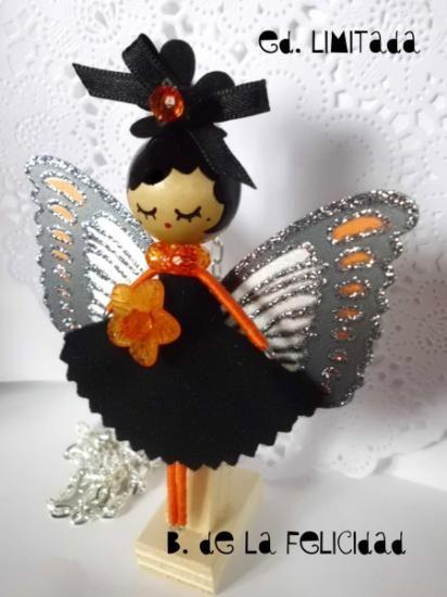 Broche y collar hada/ fairy doll brooch and necklace