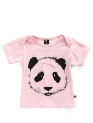 Buy Minti Baby Painted Panda Tee Pink