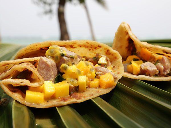 Ceviche på tonfisk med mango och chapati | Recept.nu