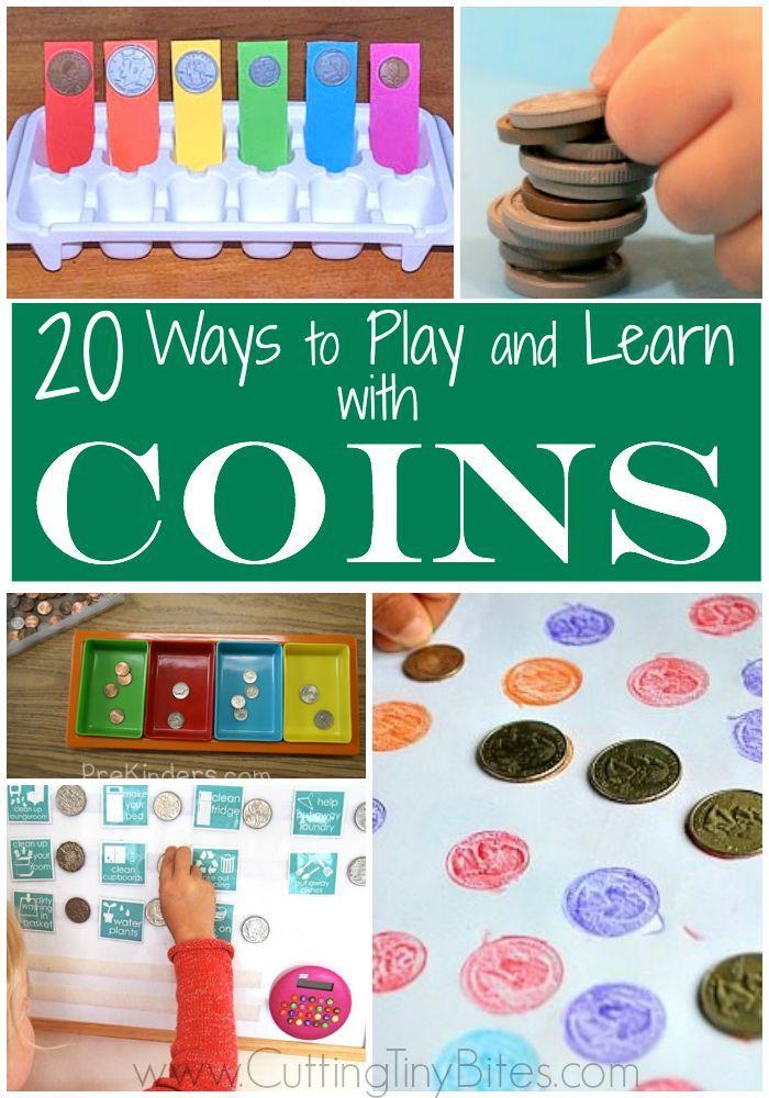 20 Easy Math Activities Using Coins for Preschoolers and Kindergarteners