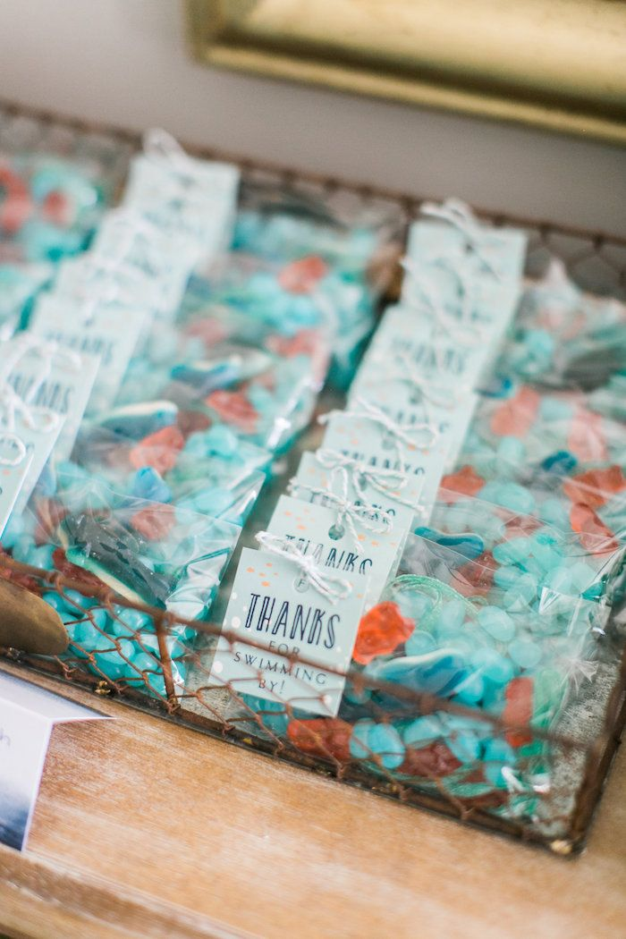 Big Fish candy favor pouches from a Modern Under the Sea Birthday Party on Kara's Party Ideas | KarasPartyIdeas.com (16)