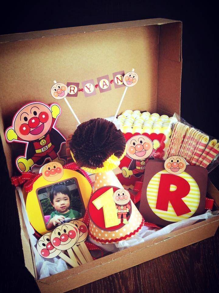 Anpanman party box for Ryan