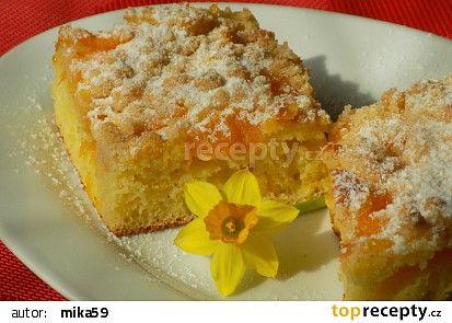 Mandarinkový koláč s drobenkou recept - TopRecepty.cz