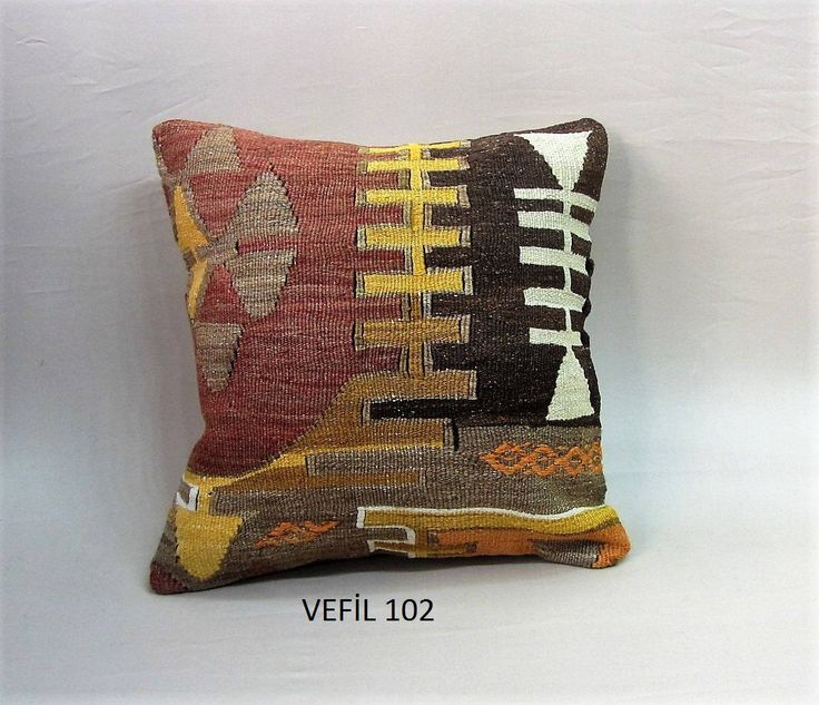 """kilim pillow cover,hand made embroedery pillow,40x40cm,16""""x16""""Wool pillow,wool pillow cover,kilim pillow,handmade pillow throw pillow by VEFILPATCWORK on Etsy"""