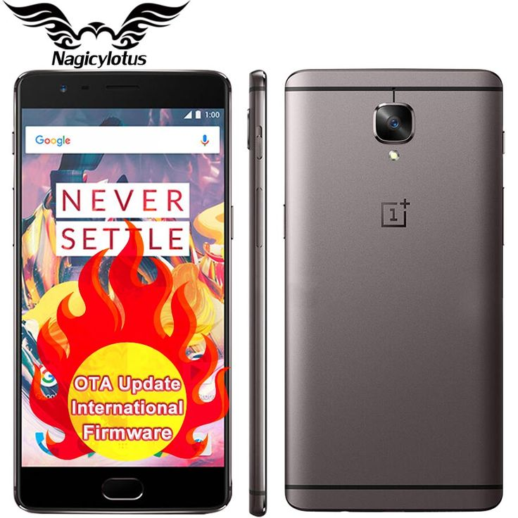"NEW Original Oneplus 3T oneplus 3 T 4G LTE Mobile Phone Snapdragon 821 Quad Core 5.5"" 6GB 64GB Android 6.0 NFC 16MP Fingerprint Price: USD 561.24 