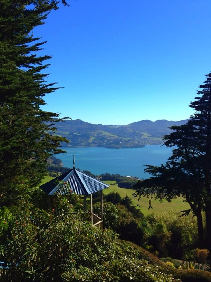 Looking out from Larnach Castle towards Portobello & Otago Harbour