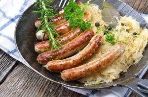 Bratwurst_and_Sauerkrautsous vide