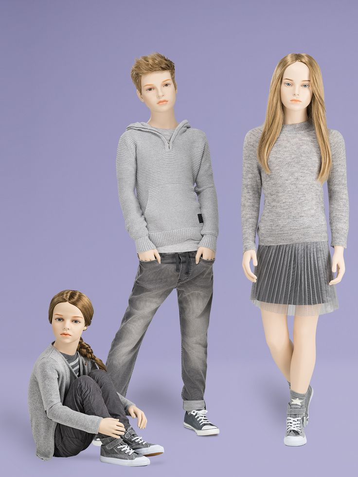 GENERATION Z Collection | Kids | GENESIS MANNEQUINS | GENERATION Z is the next fashion-oriented generation influenced by the selfie culture of social networks. Age-appropriate body language and young poses allow many different combinations. Whether realistic with make-up or abstract, GENERATION Z highlights kids' fashion perfectly.