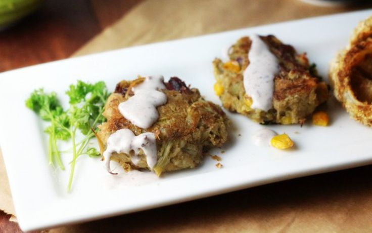 These tender, baked artichoke crab cakes are chock full of corn, bits ...