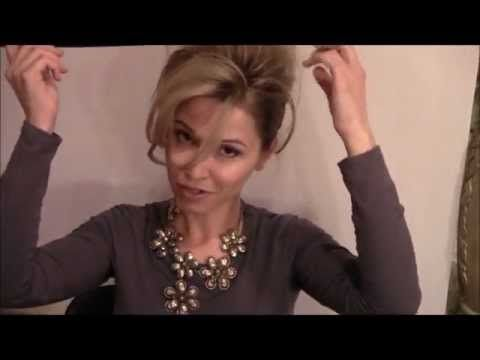 French Twist Updo for medium length hair - YouTube - ok - she did this so damned fast!  Could be do-able!!!