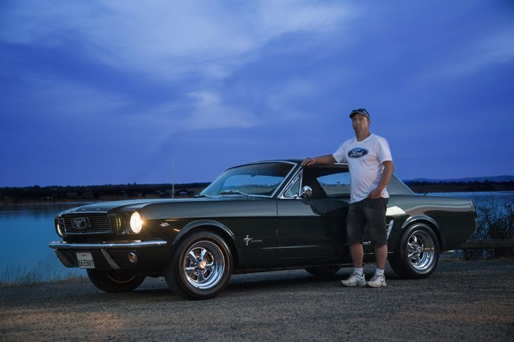 Chris Moss with his 1966 Ford Mustang