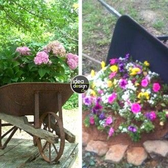 La seconda vita della vecchia carriola! 20 idee creative…