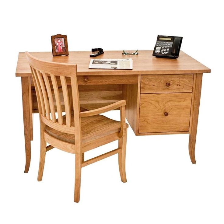 Small Flare Leg Wood Executive Desk available at Vermont Woods Studios
