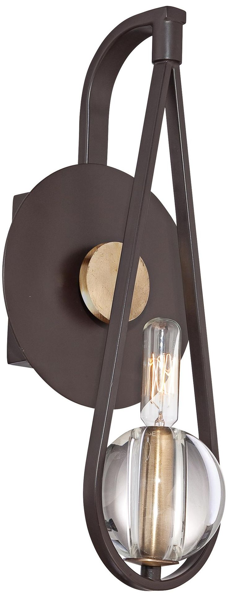 Chloe loft industrial 2 light oil rubbed bronze wall sconce free - Quoizel Uptown Seaport 15 High Bronze Wall Sconce