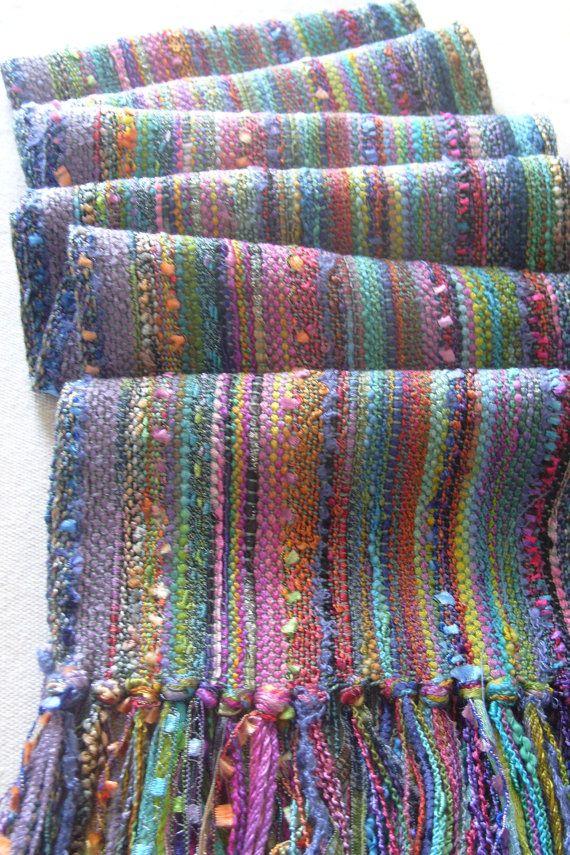 Handwoven Scarf Woven Wrap Monet's Garden II by barefootweaver, $94.00