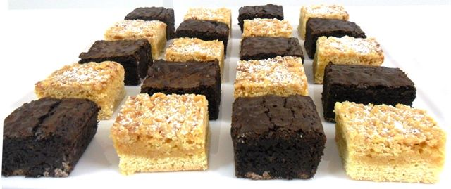 All things Caramel - dulce de leche brownie with caramel crumble slice
