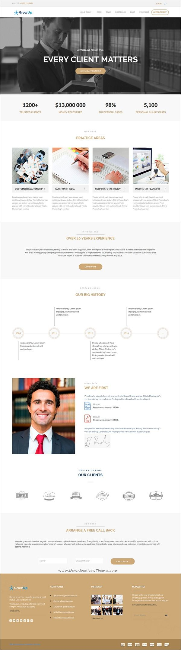 GrowUp is a modern design 6in1 professional #WordPress theme for #Lawyer #attorney and business, financial websites download now➩ https://themeforest.net/item/growup-business-financial-wordpress-theme/18761663?ref=Datasata