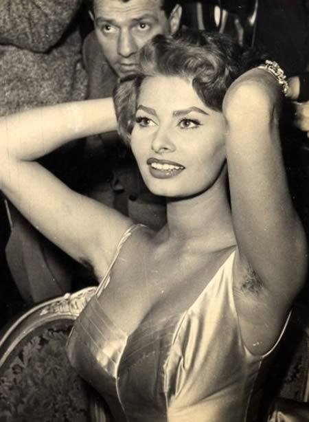 Who among us hasn't, at some point in our adult lives, forgotten to shave our pits for a day or seven? If only we looked as glamorous as Sophia Loren when we ditched our razors. She was proud of her underarm hair! | Source:  http://www.thefrisky.com/photos/11-famous-ladies-with-arm-pit-hair/armpit-hair-sophia-loren-jpg/