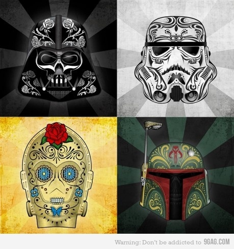 .: Stars War Art, Starwar, Candy Skulls, Of The, A Tattoo'S, Dead, Sugar Skulls, Day, War Tattoo'S