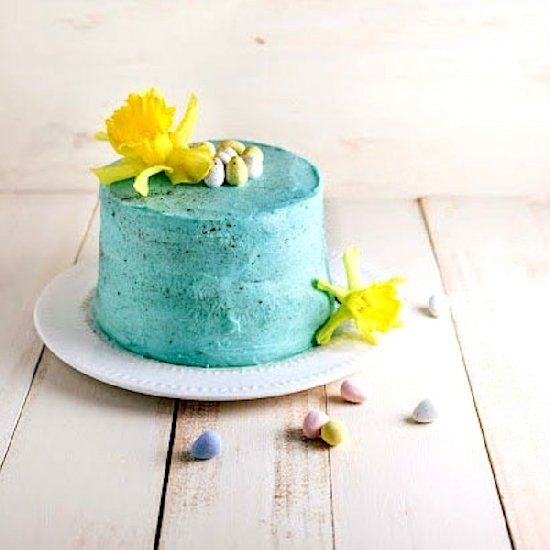 Easter Egg Cake: layers of white lemon cake and tangy lemon curd ...