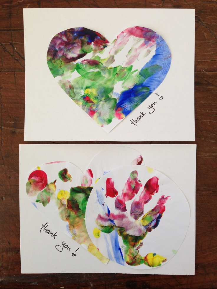 Recycle Artwork Into Cards First Birthday Thank You Notes